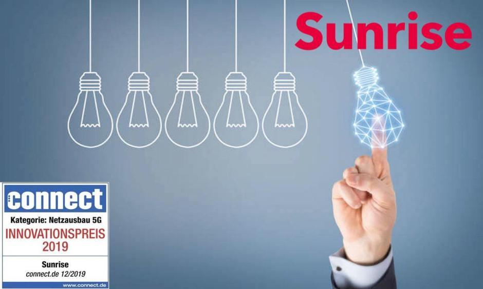 Sunrise a décroché le prix de l'innovation de Connect.