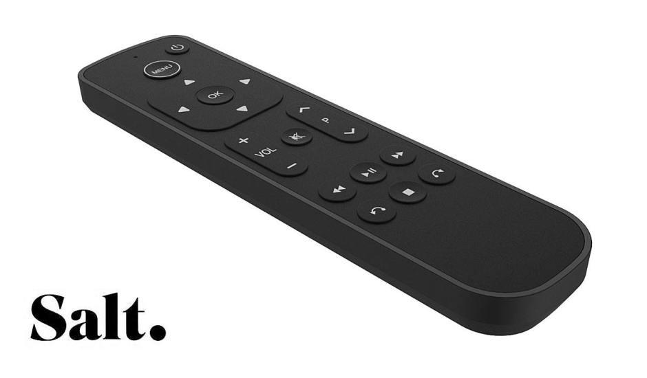Une nouvelle télécommande pour Salt TV.
