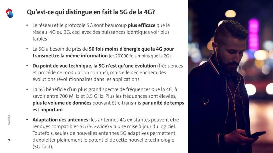 Selon Swisscom, la 5G est beaucoup plus efficace que la 4G.