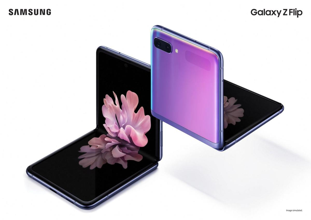 Le Samsung Galaxy Z Flip.