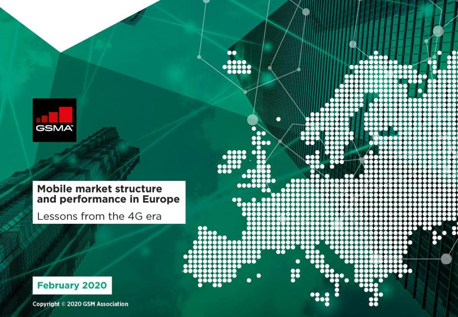 Mobile market structure and performance in Europe. Lessons from the 4G era. GSMA.