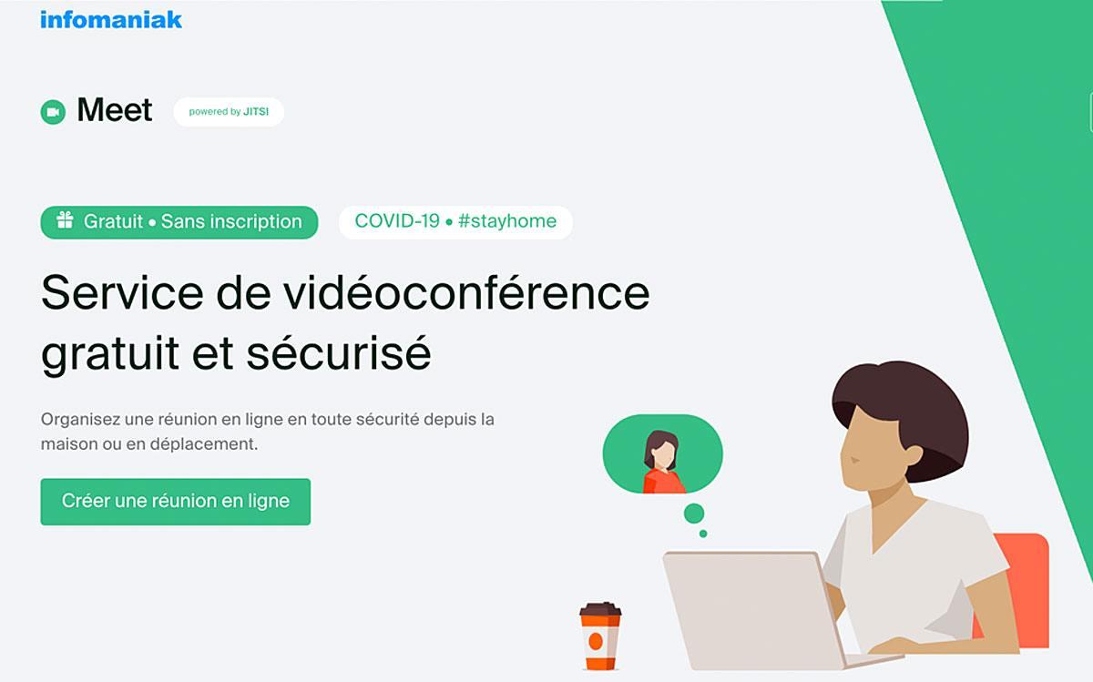 Infomaniak lance sa solution de vidéoconférence Meet!