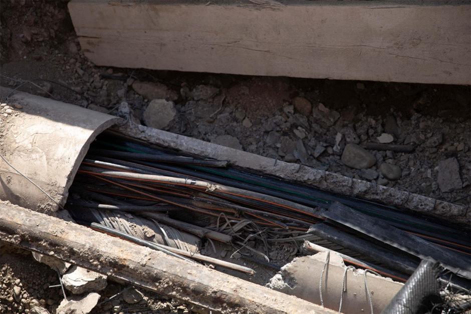 Plusieurs dizaines de câbles ont été coupés par une machine de chantier