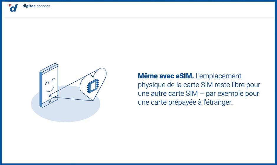 L'abonnement Digitec Connect est désormais compatible eSIM.