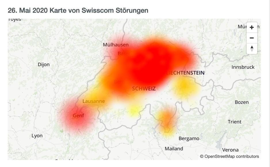 Nouvelle grosse panne Chez Swisscom, dans toute la Suisse.