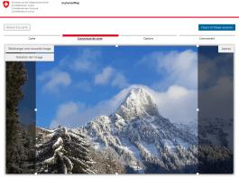 mySwissMap: possibilité de personnalisation avec une de ses photos.