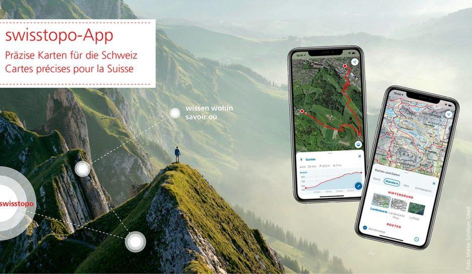 La nouvelle application Swisstopo est arrivée.