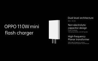 Le mini chargeur de flash Oppo de 110W.