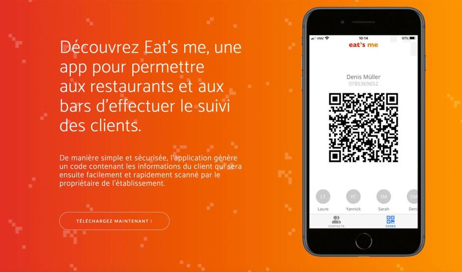 L'application «eat's me»: une initiative neuchâteloise originale.