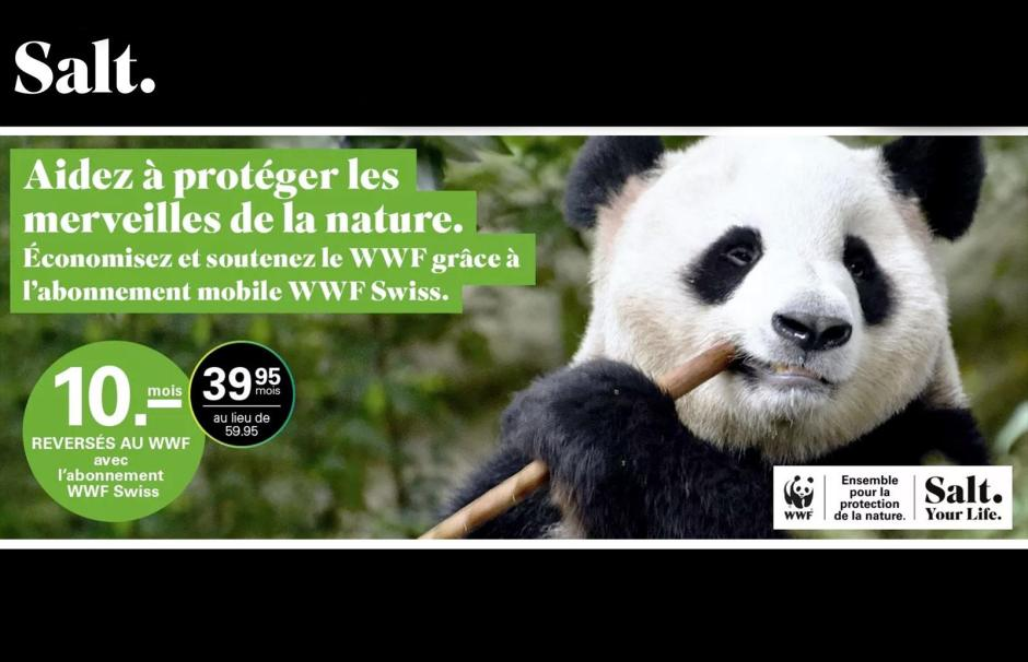 Salt soutient le WWF avec l'aide de ses clients.