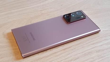 Le Samsung Note 20 Ultra 5G: mise au point laser.