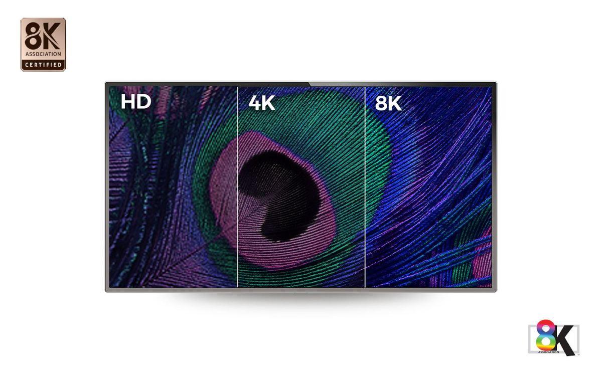La 8K permet une résolution de plus de 33 millions de pixels, soit 4 fois plus que la 4K.