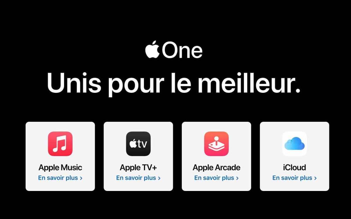Apple One est arrivé en Suisse.