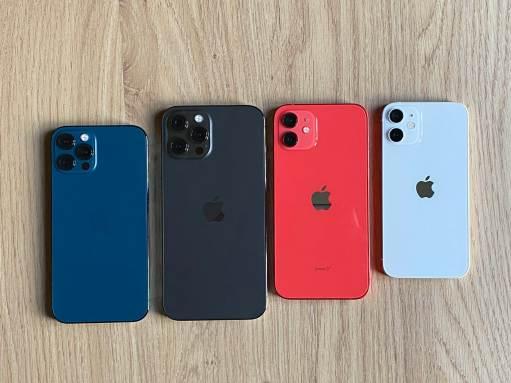 Les iPhone 12, 12 Pro Max , 12 Pro et 12 mini.