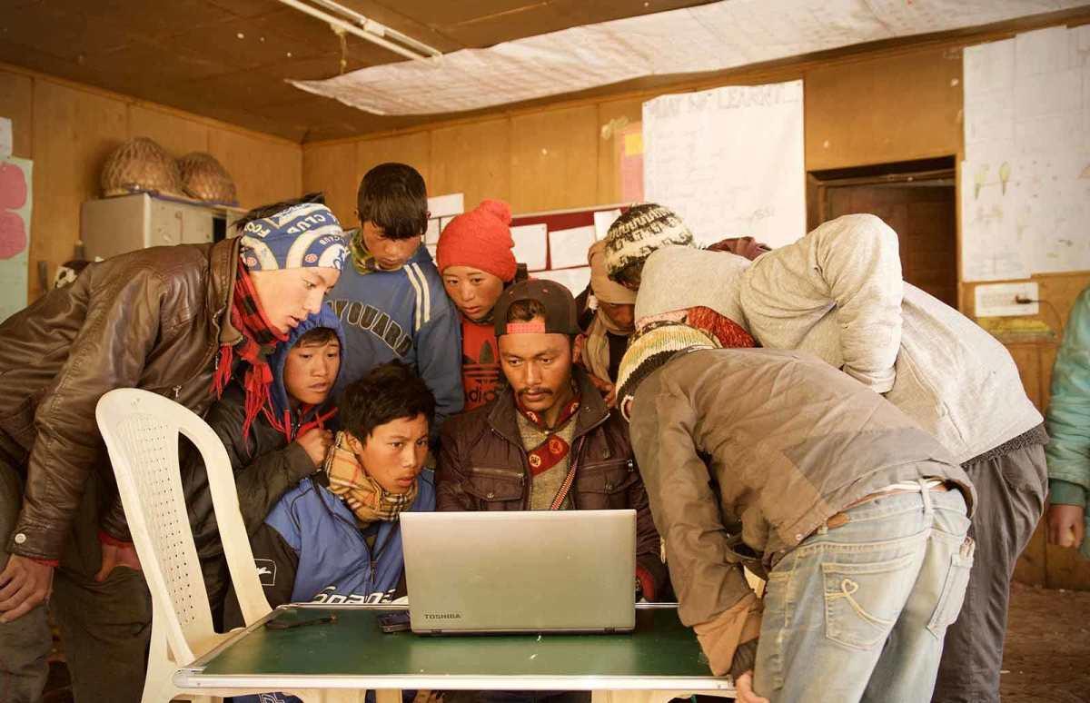 A la découverte de Wikipédia au Ladakh grâce à Kiwix.