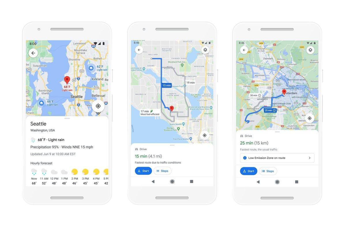 Gros programme pour Google Maps en 2021.