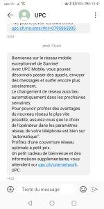 UPC Mobile: de Swisscom à Sunrise UPC.