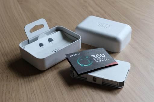 L'emballage en carton des Sony WF-1000XM4.