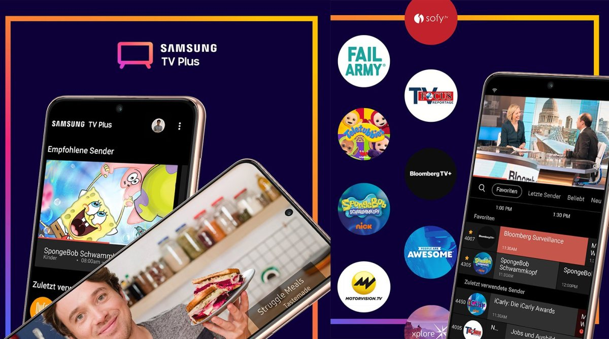Samsung TV Plus débarque sur les Galaxy.