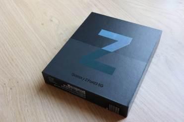 L'emballage du Samsung Galaxy Z Fold 3...