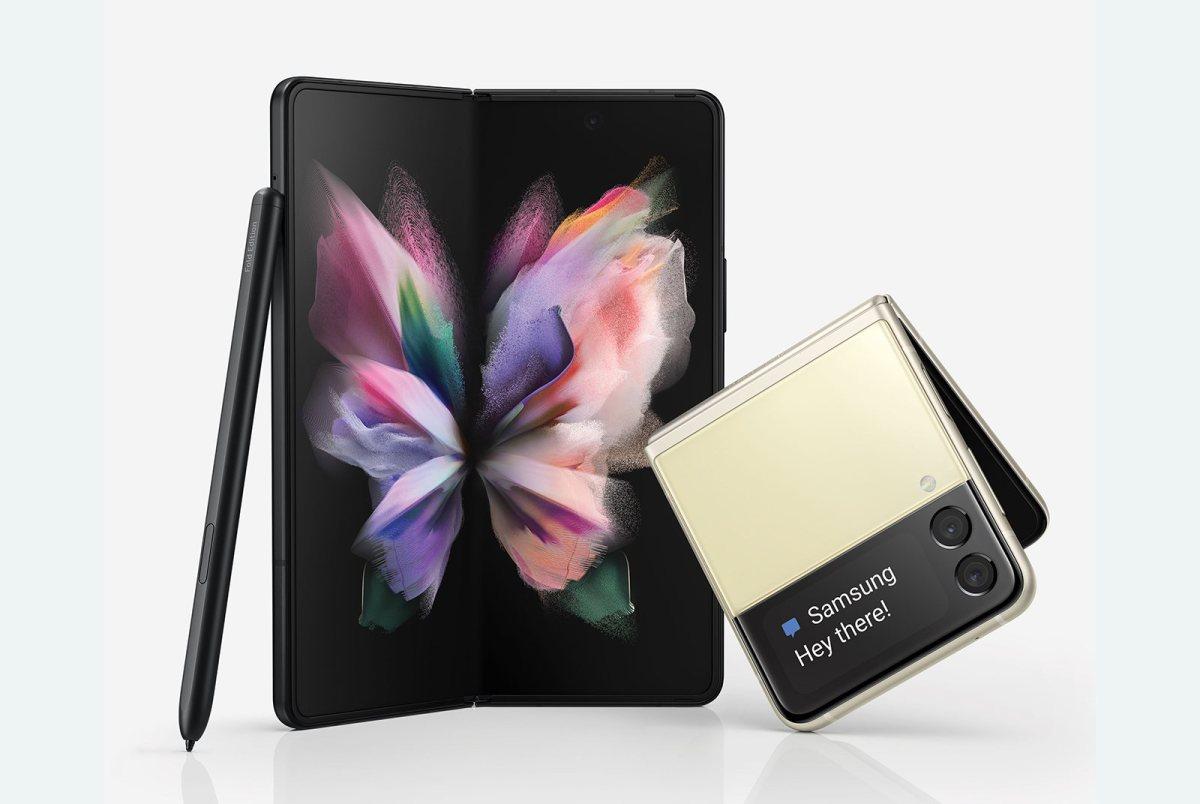 Les Galaxy Z Fold3 5G et Z Flip3 5G .