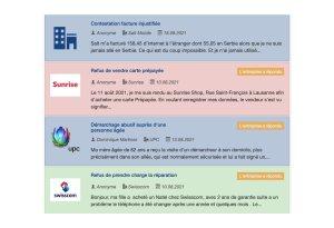 Read more about the article Baromètre des plaintes: Sunrise UPC loin devant Salt Mobile et Swisscom