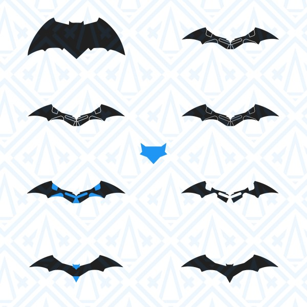 DCUE Batman Emblem collection by XAXs Corps and Xandrieth Xs-01