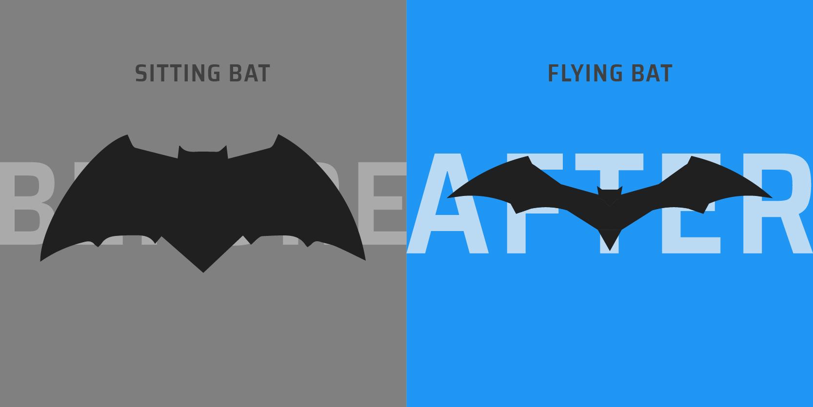 XAXs blog DCEU batman logo comparison bat vector