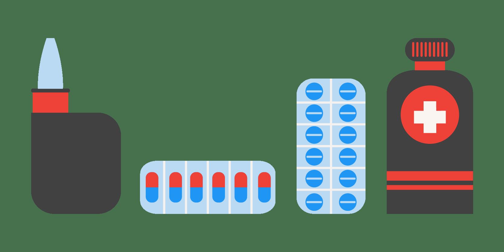 XAXs Covid 19 medicine illustration