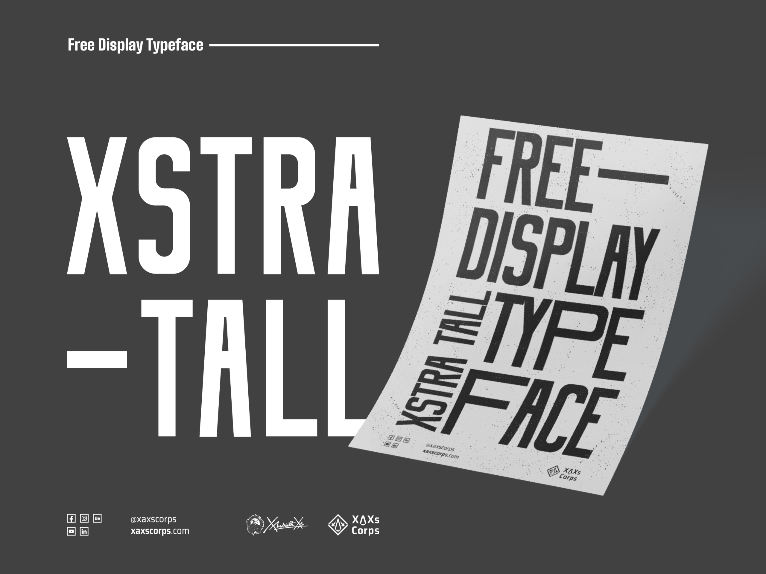 Xstra tall typeface cover