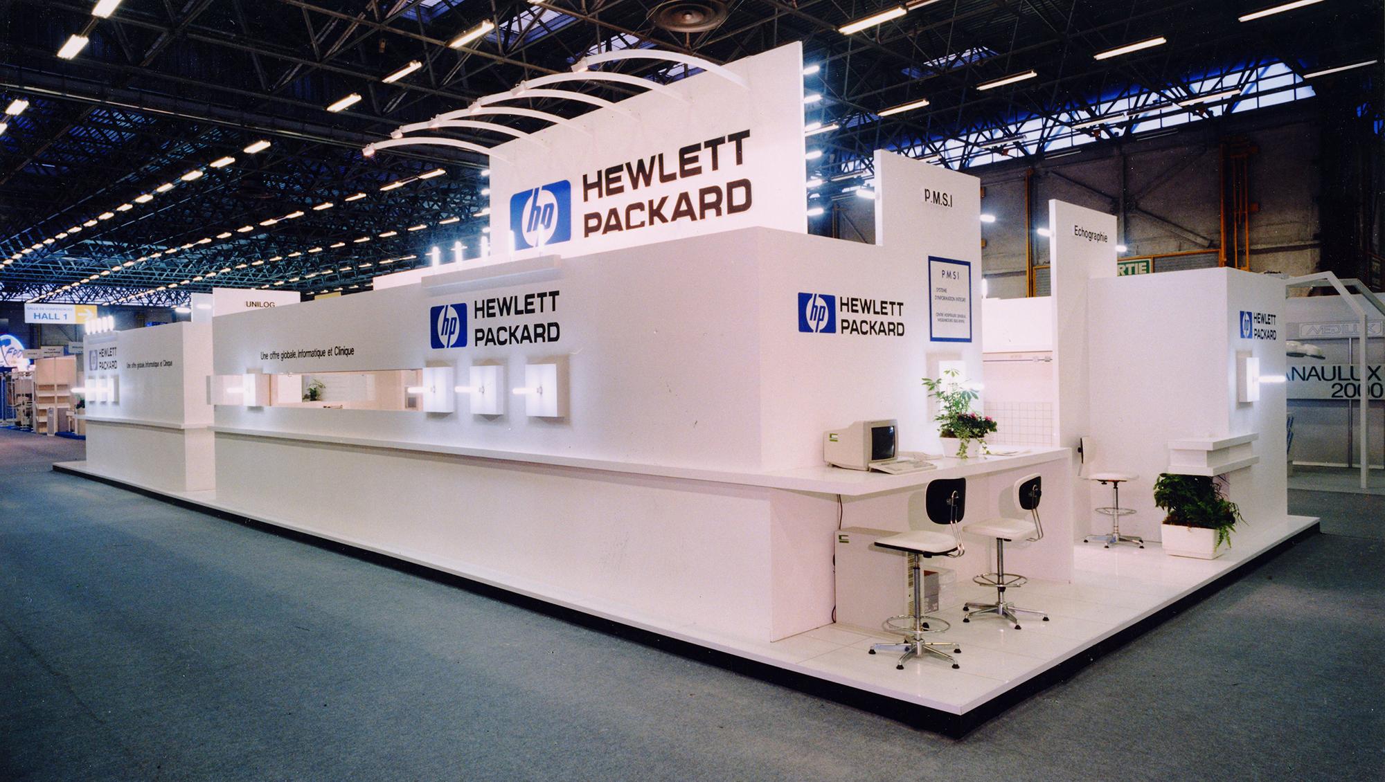 stand d exposition hewlett packard