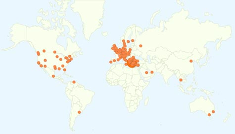 Google Analytics map