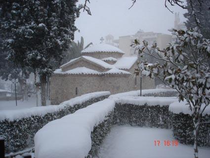 Χιόνια στην Παλλήνη