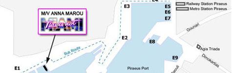 Χάρτης λιμανιού Πειραιά