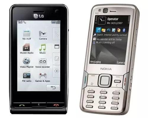 LG Viewty - Nokia N82