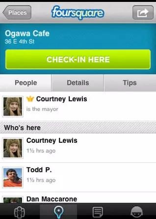 Foursquare iPhone App