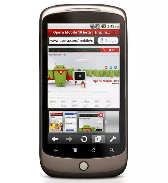 Opera Mobile στο Nexus One