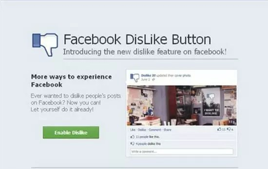 Το Dislike button που εμφανίστηκε στο Facebook είναι... απάτη γι΄αυτό προσοχή!