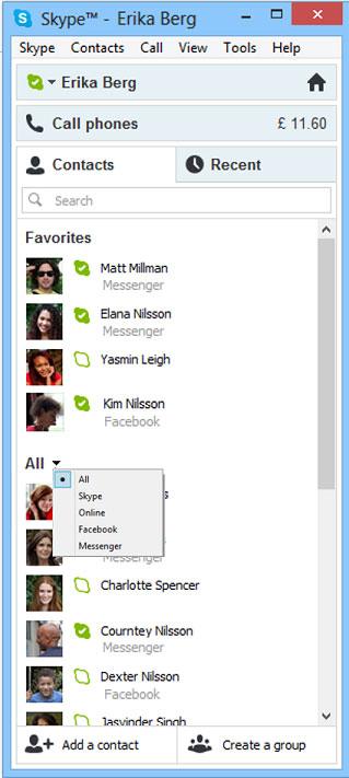 Skype με ενσωμάτωση Live Messenger