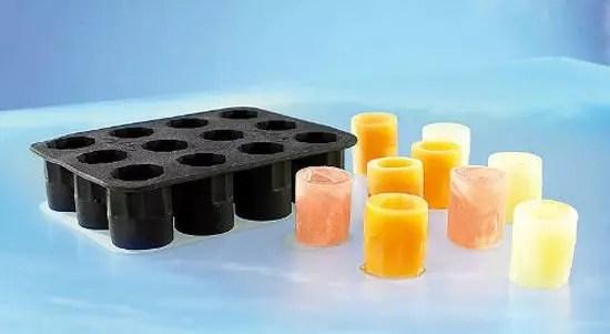 Παγοθήκη σιλικόνης που παράγει σφηνοπότηρα