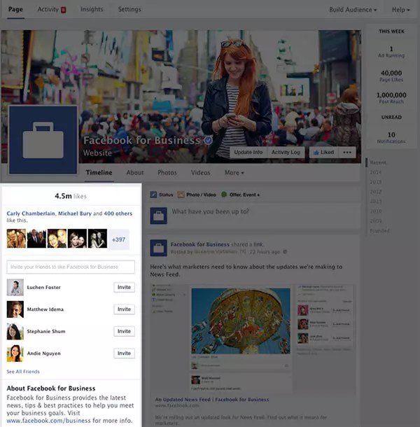 Facebook Pages new design