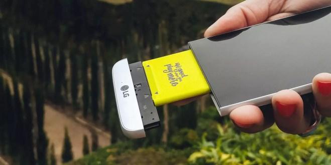 LG G5 battery slot hands-on