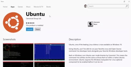 Windows 10 Store Ubuntu