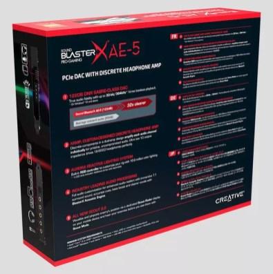 Creative Sound BlasterX AE 5 box back