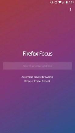 Firefox Focus screenshot