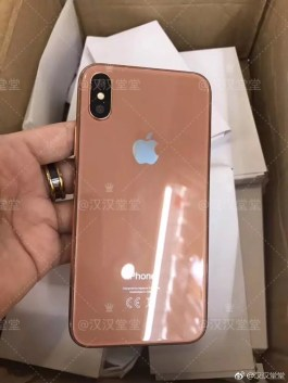 Apple iPhone 8 copper gold mockup