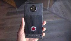 RED Hydrogen One prototype hands on rear