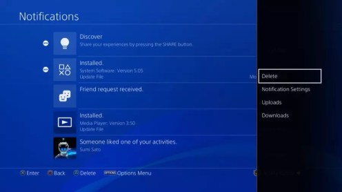 Sony PlayStation 4 Notifications Update