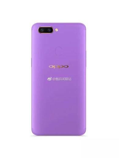 Oppo R15 Purple render leak