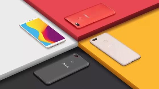 ZTE Nubia V18 colors